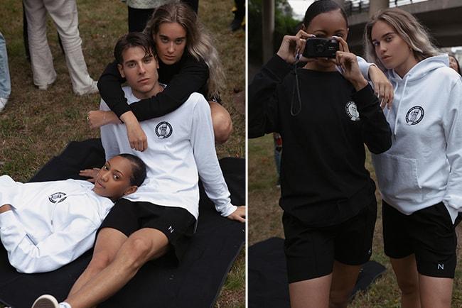 ungdomar klädda i hoodies och t-shirts från The Phone Home Collection