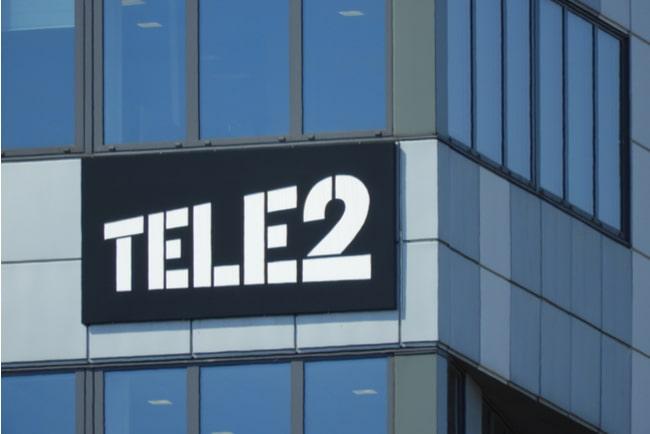 En bild på Tele2s logga på hus