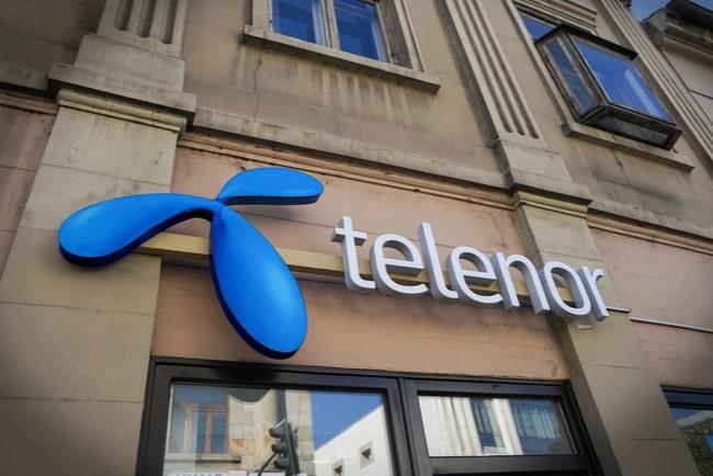 Telenors logga på husfasad