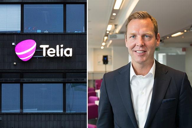 En bild på Telias vd, Johan Dennelind